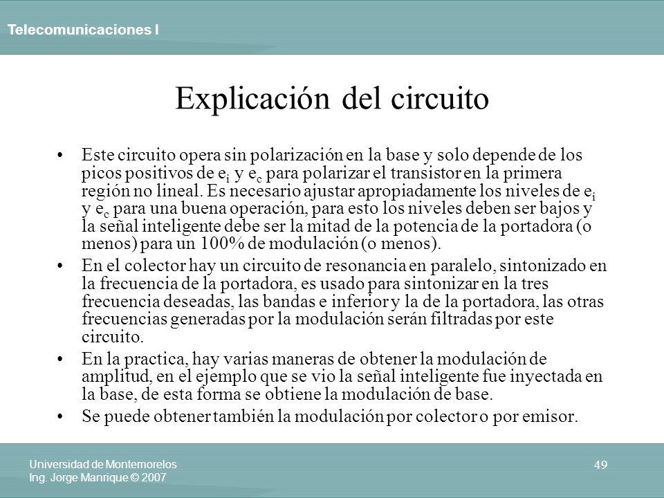 Explicación del circuito