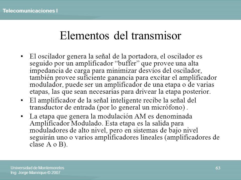 Elementos del transmisor