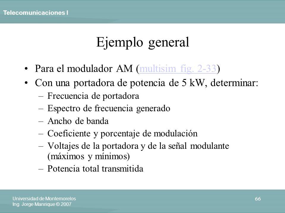 Ejemplo general Para el modulador AM (multisim fig. 2-33)