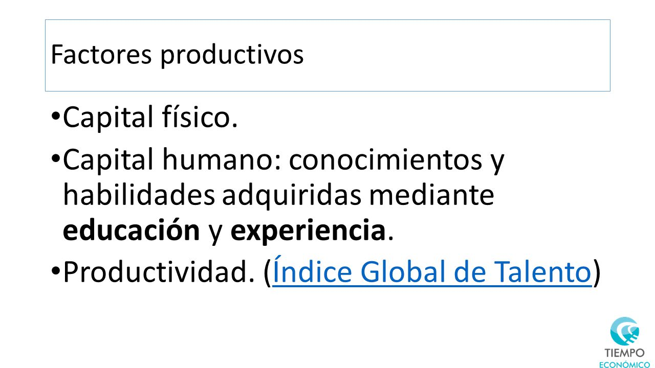 Productividad. (Índice Global de Talento)
