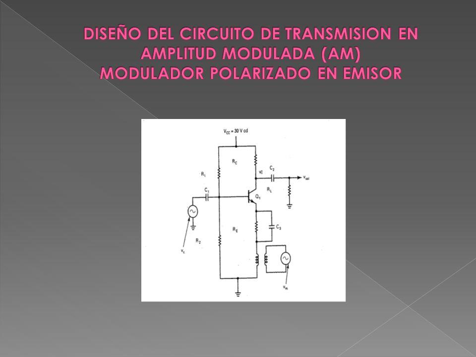 DISEÑO DEL CIRCUITO DE TRANSMISION EN AMPLITUD MODULADA (AM) MODULADOR POLARIZADO EN EMISOR