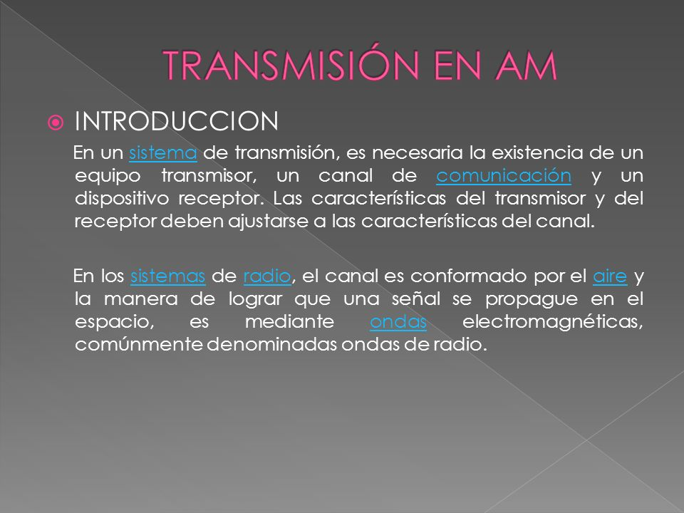 TRANSMISIÓN EN AM INTRODUCCION