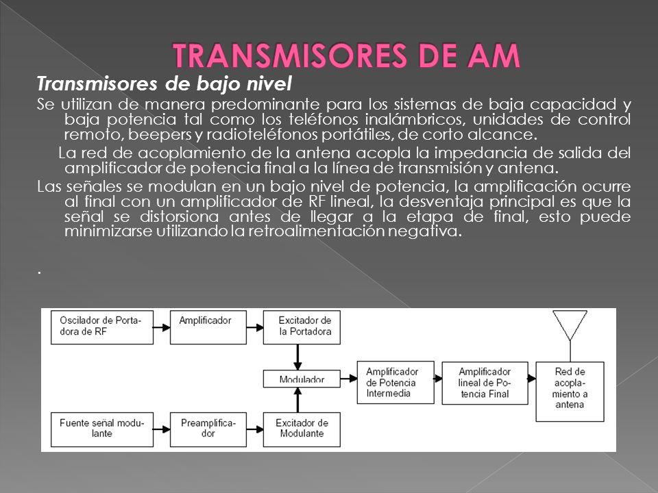TRANSMISORES DE AM Transmisores de bajo nivel