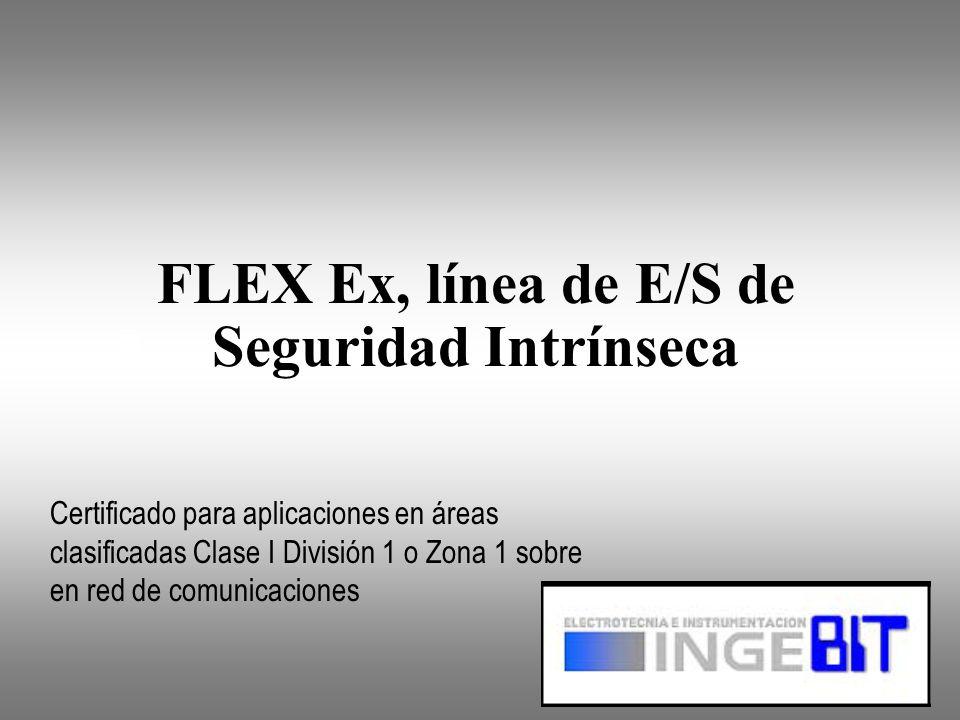 FLEX Ex, línea de E/S de Seguridad Intrínseca