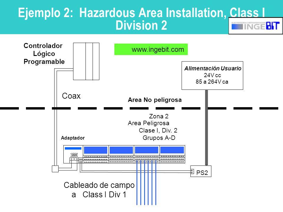 Ejemplo 2: Hazardous Area Installation, Class I Division 2