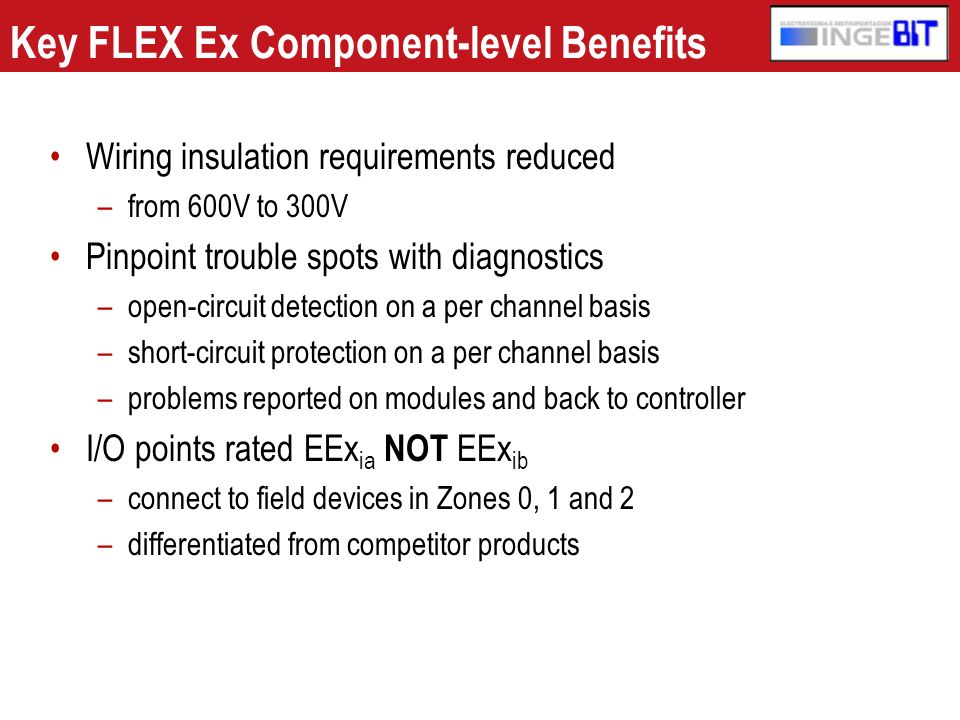 Key FLEX Ex Component-level Benefits