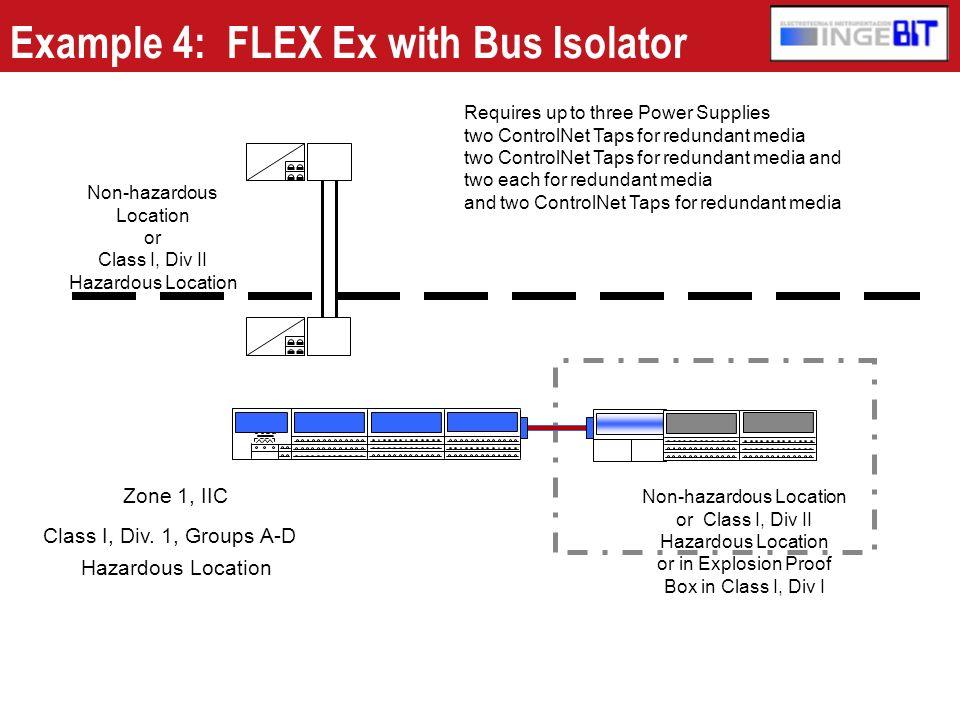 Example 4: FLEX Ex with Bus Isolator