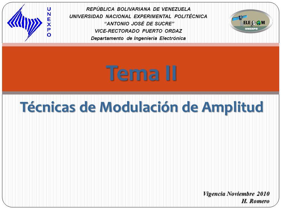 Tema II Técnicas de Modulación de Amplitud