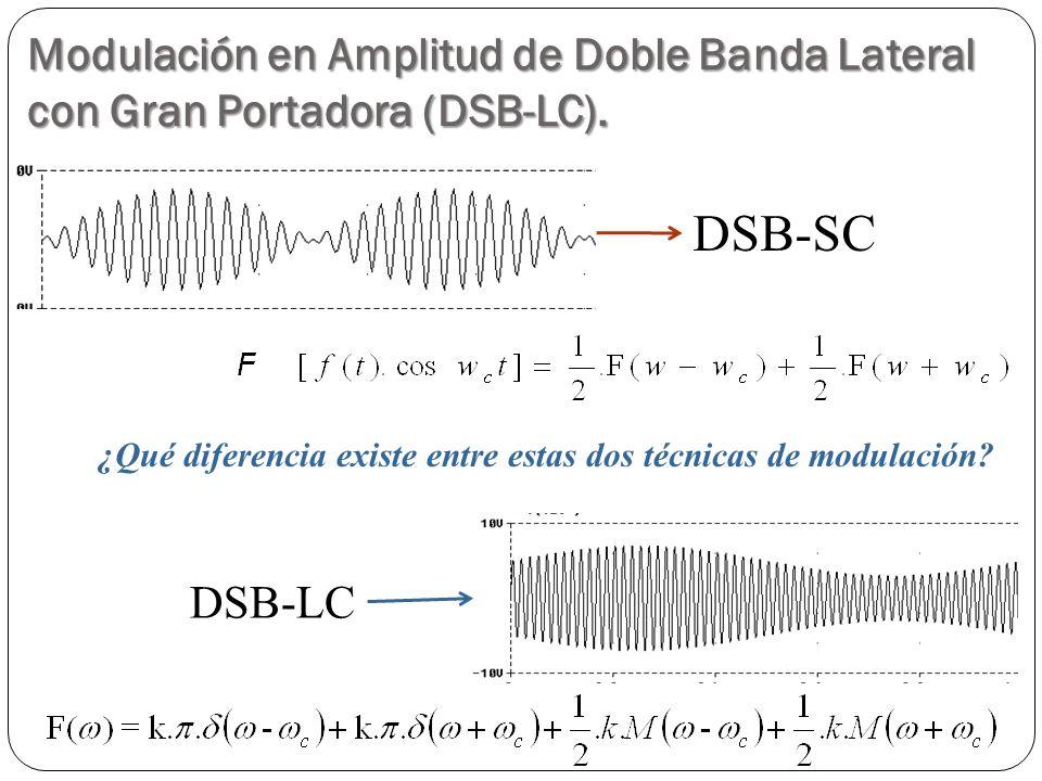 ¿Qué diferencia existe entre estas dos técnicas de modulación