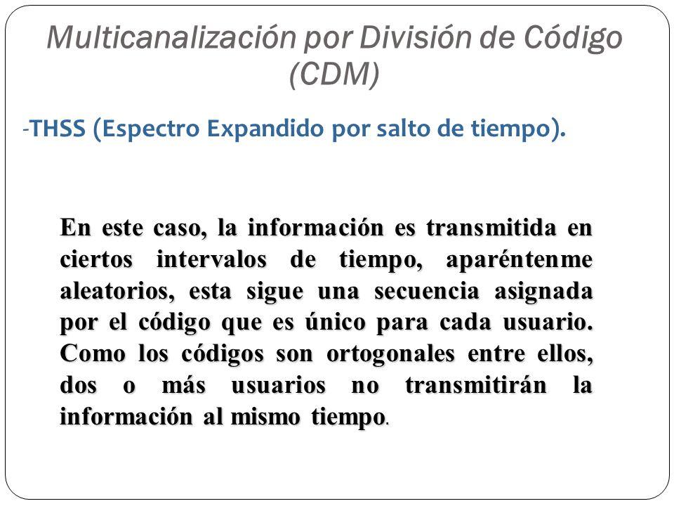 Multicanalización por División de Código (CDM)