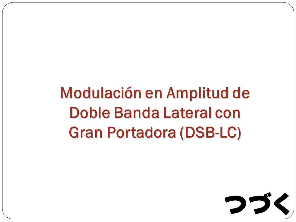 Modulación en Amplitud de Doble Banda Lateral con Gran Portadora (DSB-LC)