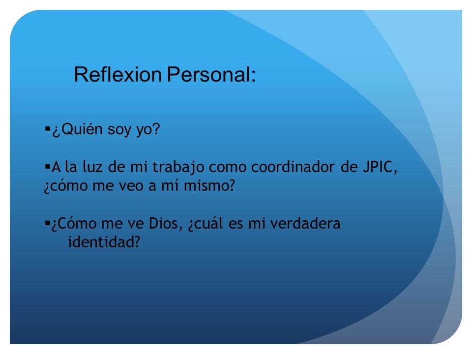 Reflexion Personal: ¿Quién soy yo