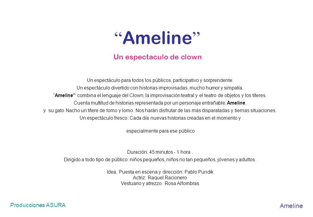 Ameline Un espectaculo de clown Ameline Producciones ASURA