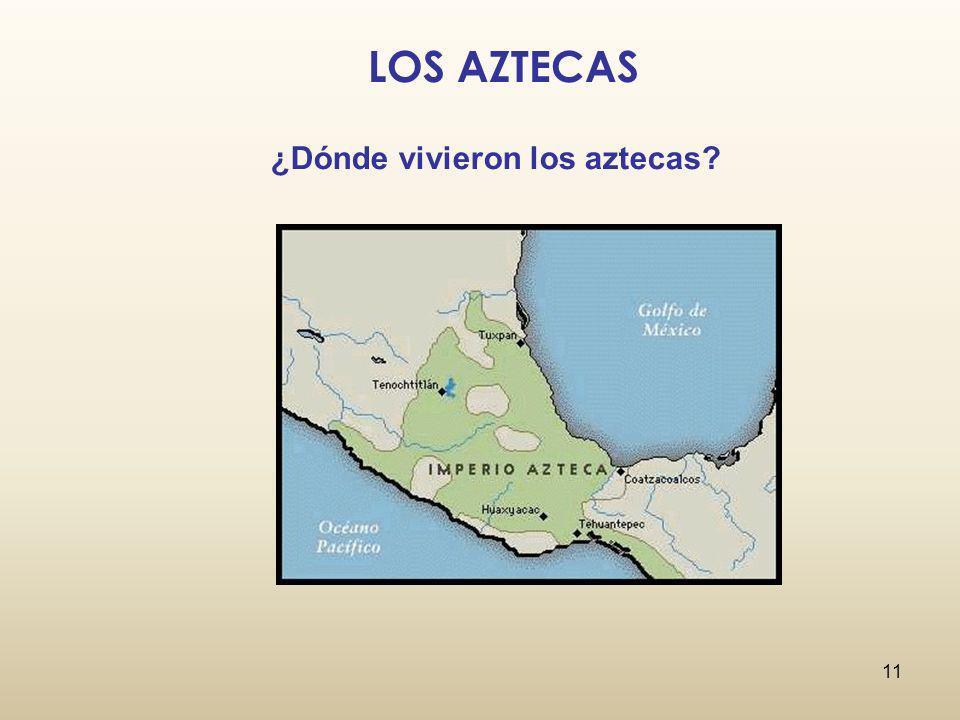 LOS AZTECAS ¿Dónde vivieron los aztecas