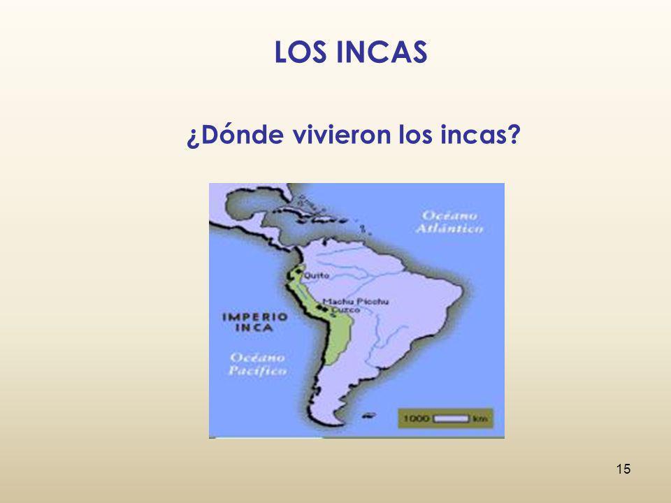 ¿Dónde vivieron los incas