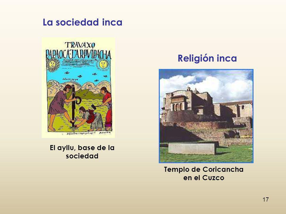 El ayllu, base de la sociedad Templo de Coricancha en el Cuzco