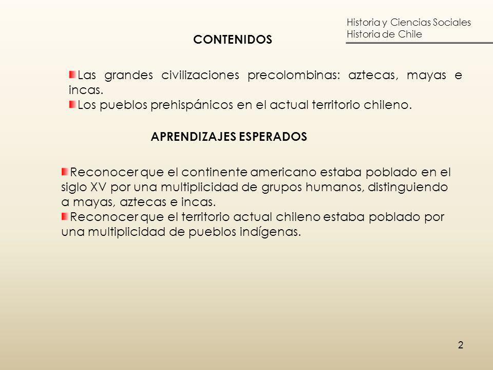 Las grandes civilizaciones precolombinas: aztecas, mayas e incas.