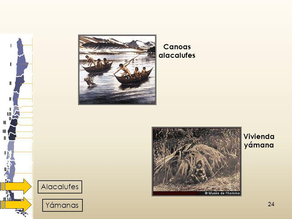 Canoas alacalufes Vivienda yámana Alacalufes Yámanas