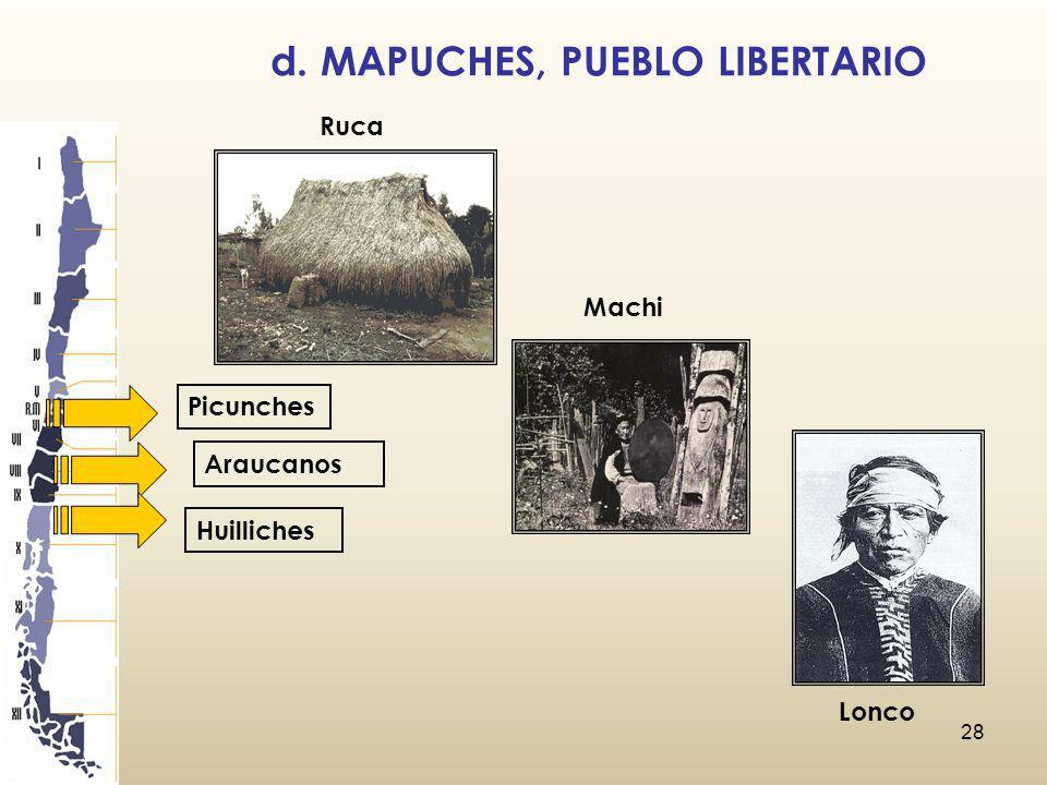 d. MAPUCHES, PUEBLO LIBERTARIO
