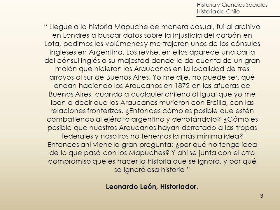 Leonardo León, Historiador.