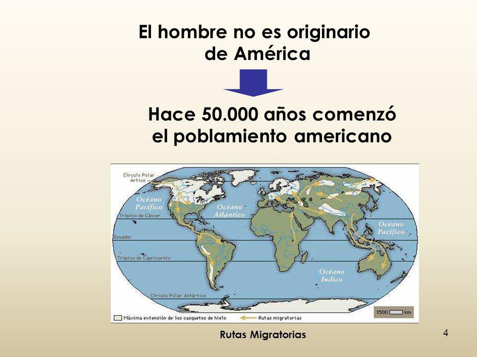 El hombre no es originario el poblamiento americano