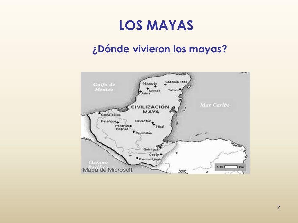 ¿Dónde vivieron los mayas