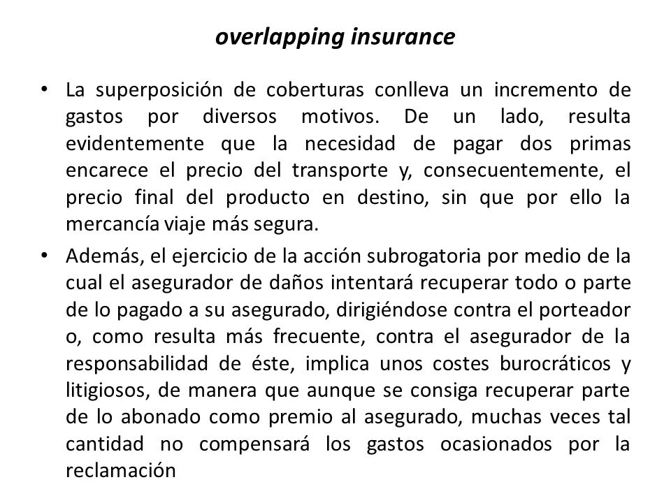 overlapping insurance