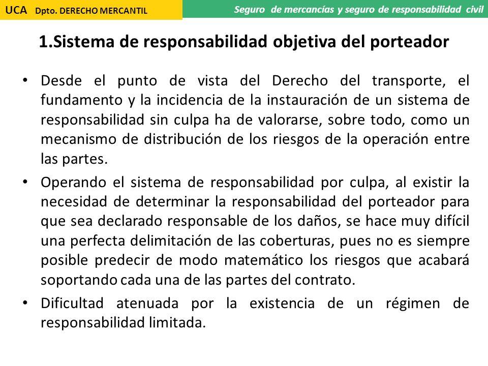1.Sistema de responsabilidad objetiva del porteador