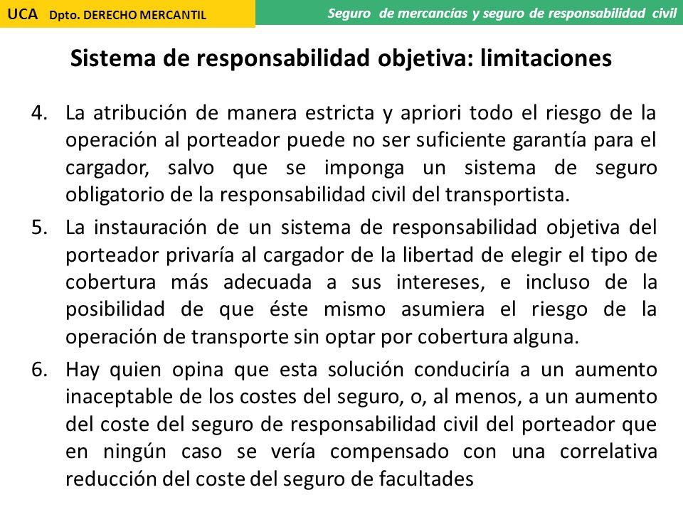 Sistema de responsabilidad objetiva: limitaciones