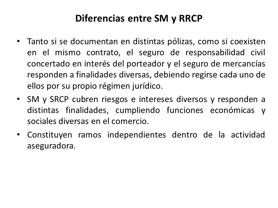 Diferencias entre SM y RRCP