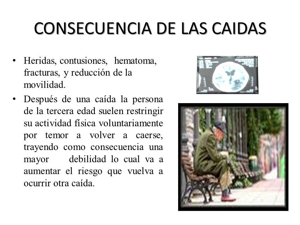 CONSECUENCIA DE LAS CAIDAS