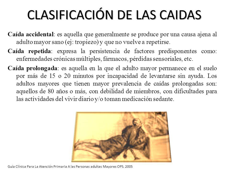 CLASIFICACIÓN DE LAS CAIDAS