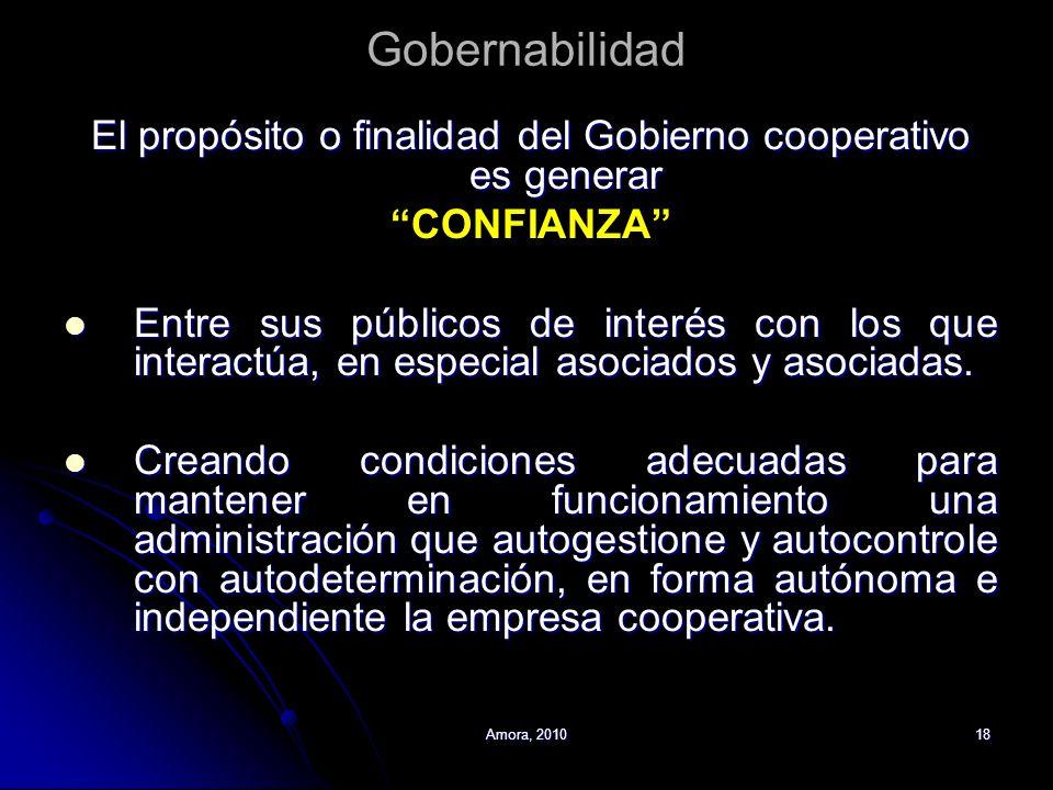 El propósito o finalidad del Gobierno cooperativo es generar