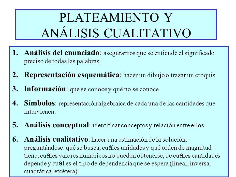 PLATEAMIENTO Y ANÁLISIS CUALITATIVO