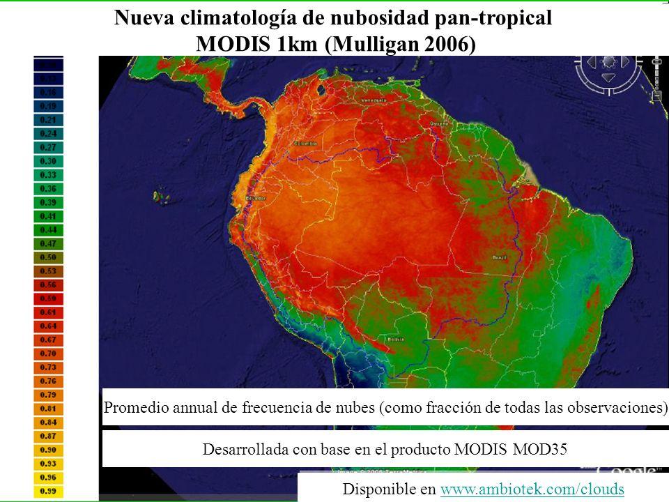 Nueva climatología de nubosidad pan-tropical