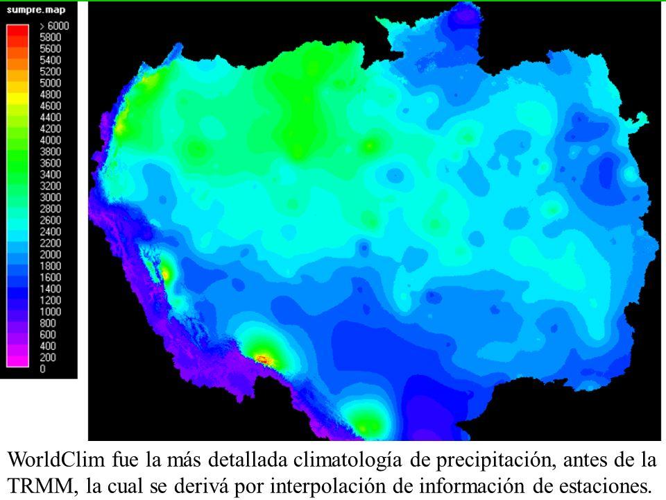 WorldClim fue la más detallada climatología de precipitación, antes de la