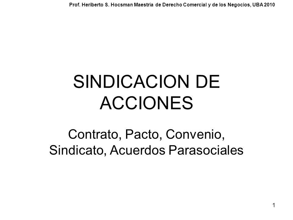SINDICACION DE ACCIONES