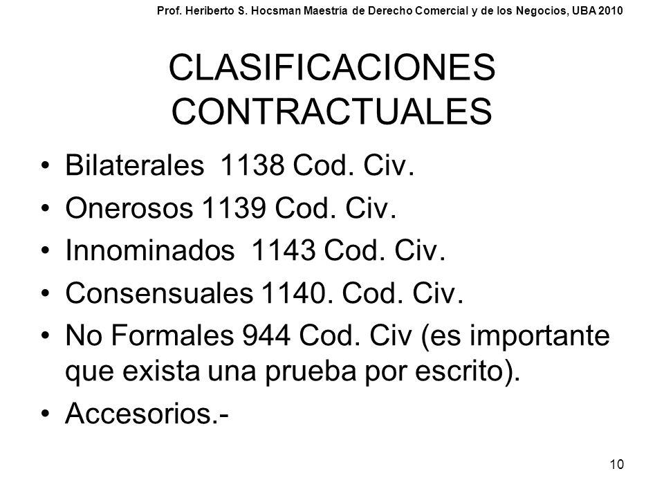 CLASIFICACIONES CONTRACTUALES