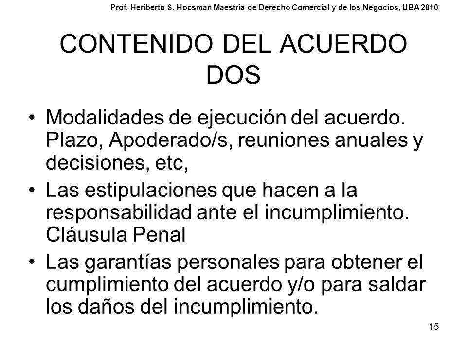 CONTENIDO DEL ACUERDO DOS