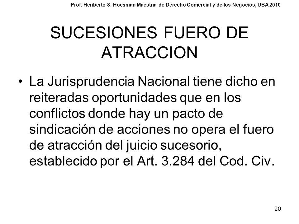 SUCESIONES FUERO DE ATRACCION