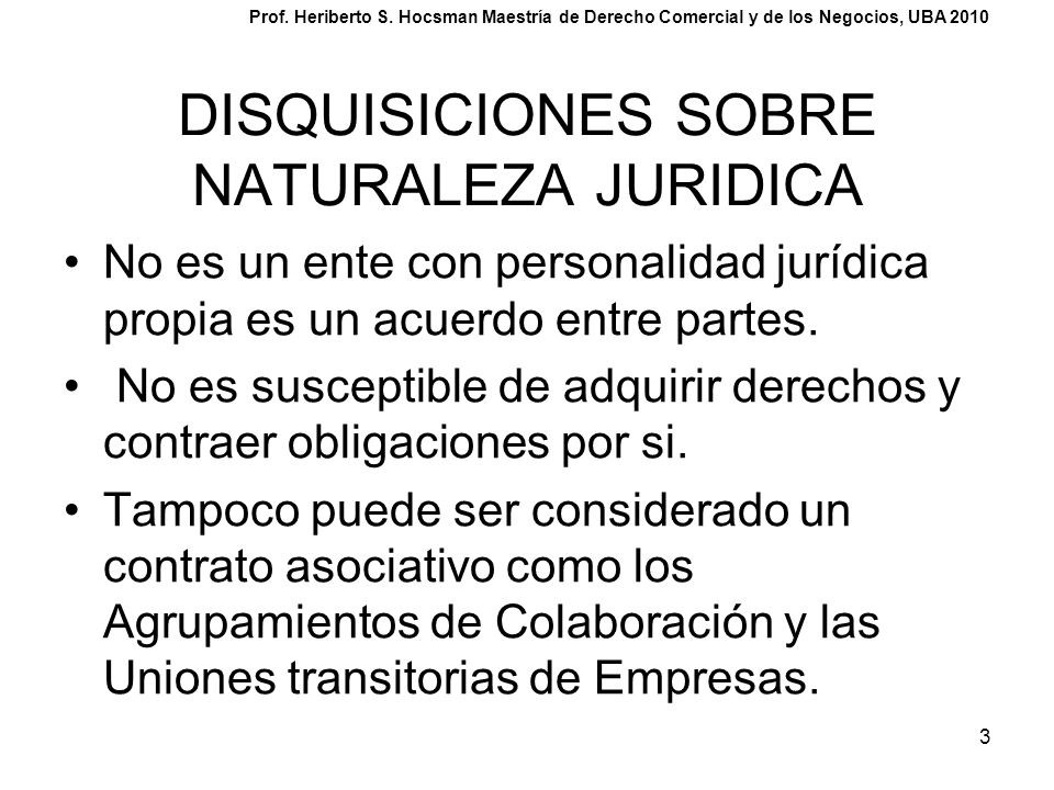 DISQUISICIONES SOBRE NATURALEZA JURIDICA
