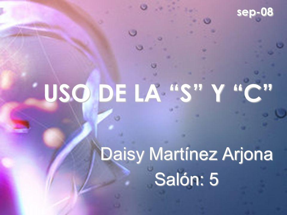 Daisy Martínez Arjona Salón: 5