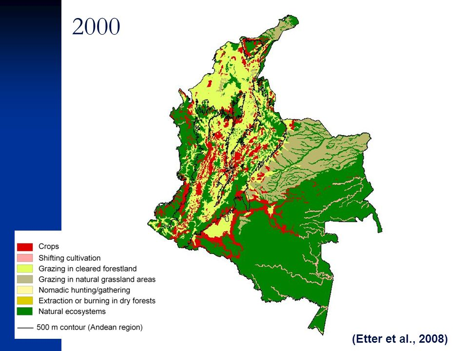 2000 (Etter et al., 2008)