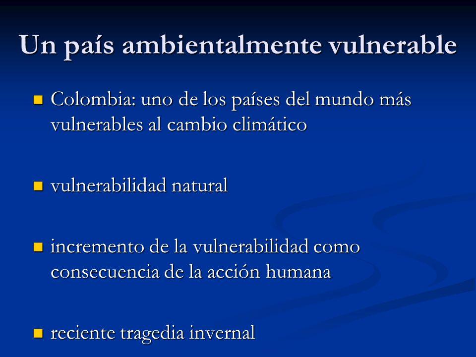 Un país ambientalmente vulnerable