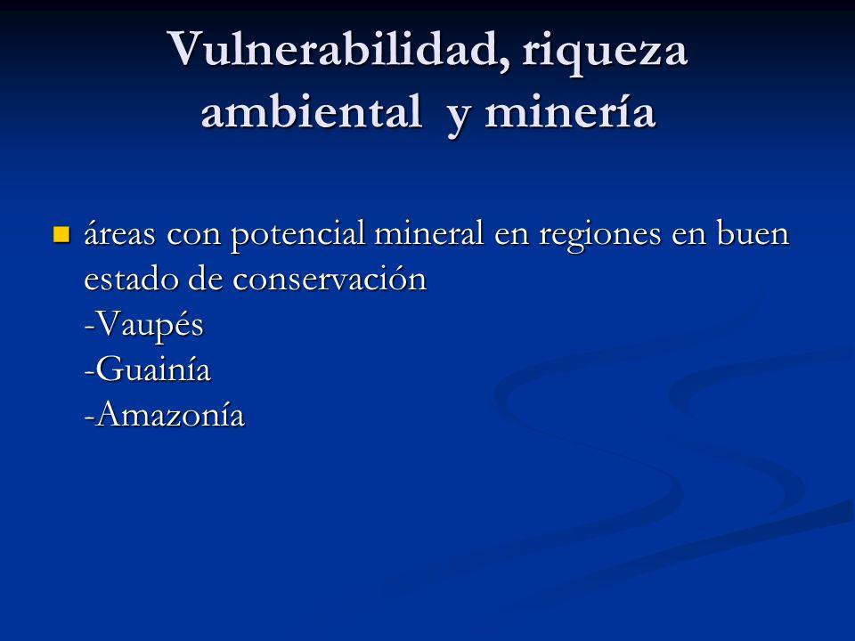 Vulnerabilidad, riqueza ambiental y minería