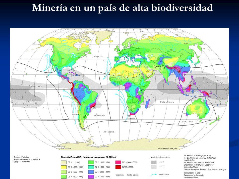 Minería en un país de alta biodiversidad