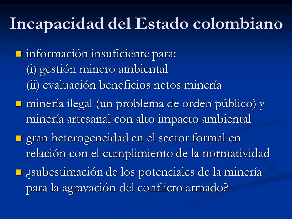 Incapacidad del Estado colombiano