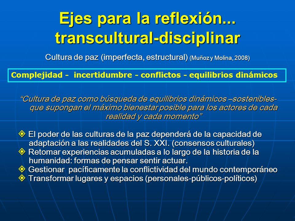 Ejes para la reflexión... transcultural-disciplinar