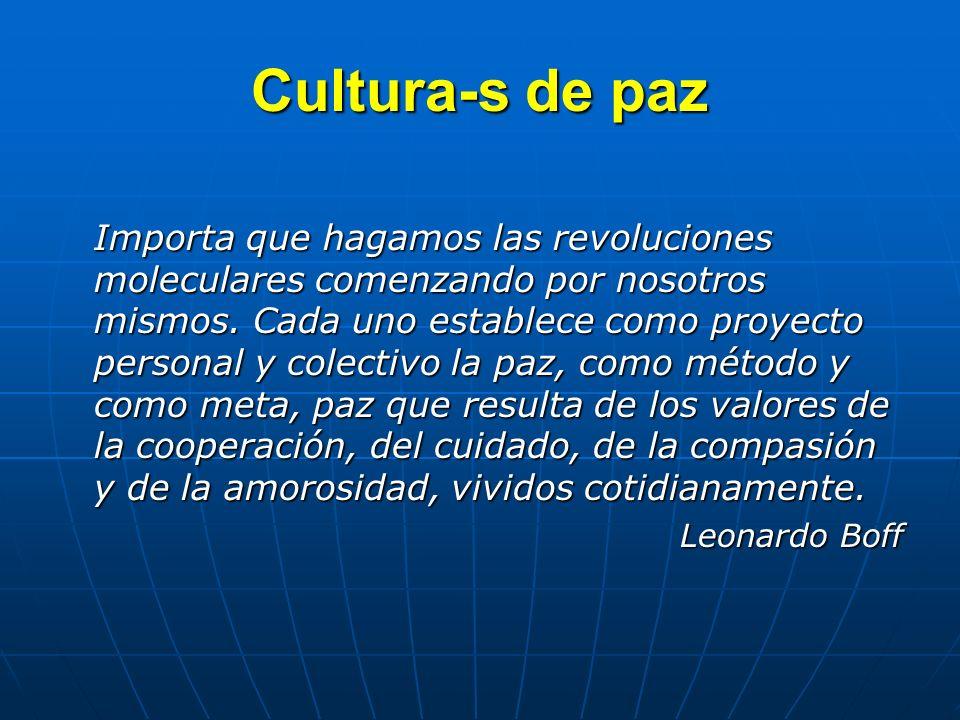 Cultura-s de paz