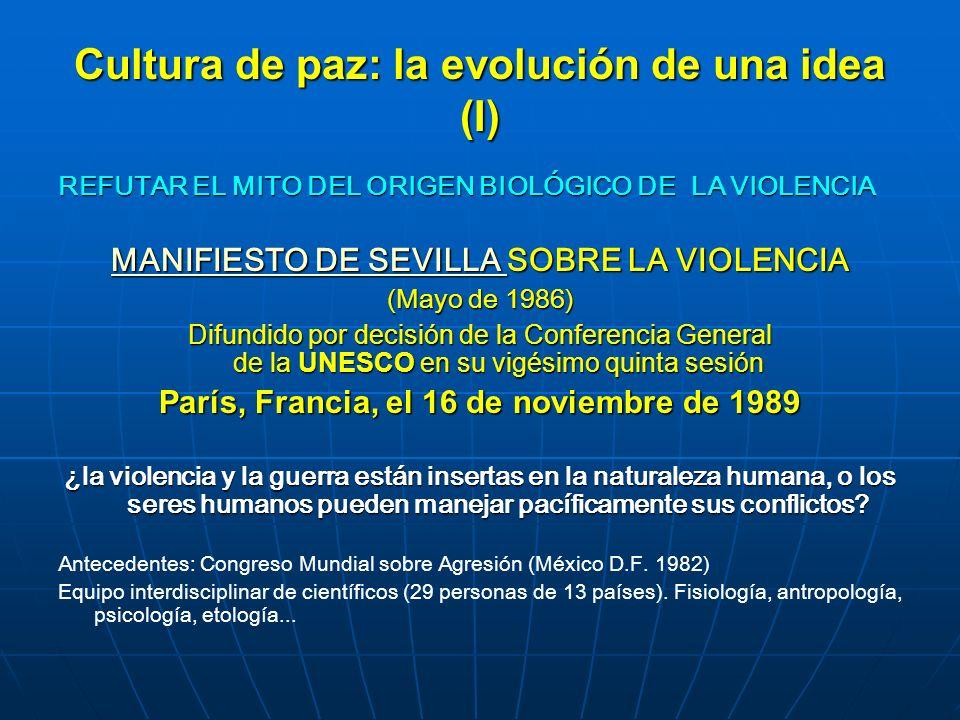 Cultura de paz: la evolución de una idea (I)